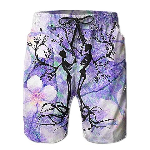 Mens Summer-time Seaside Beach Shorts,The Tree Of Life Beach Pants For Men (The Tree Of Life Bluray)