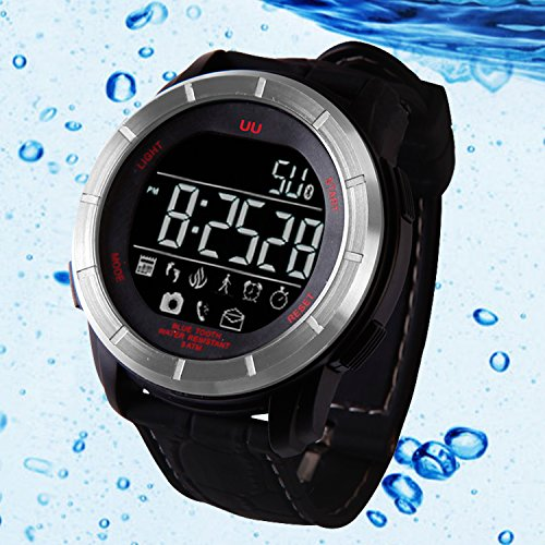 Waterproof Fitness Tracker Smart Watch, Collasaro Bluetooth Outdoor Sport Diving Smartband Watch with Pedometer Calorie Counter Heart Monitor Call/SMS Notification for Android & IOS - Bosch Cpu