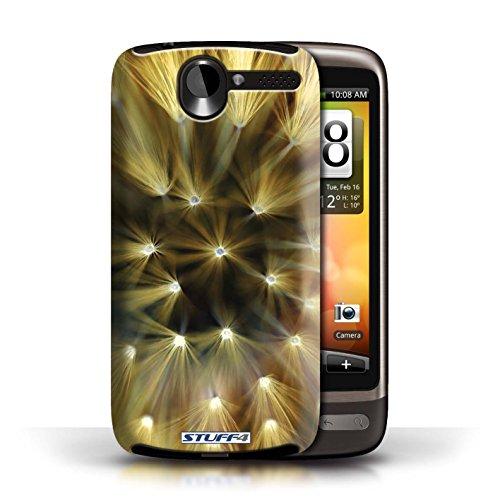 Etui / Coque pour HTC Desire G7 / Jaune conception / Collection de Couleur/Lumière Fleur