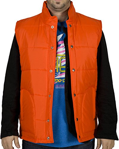 [License To Wear Men's McFly Vest Orange Medium] (Marty Mcfly Costumes)