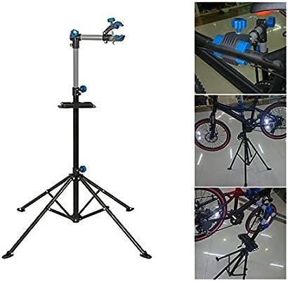 COMOTS Soporte de reparación de bicicletas ajustable para reparación de aparcamiento de bicicleta, para casa, mecánica, montaña, bicicleta al aire libre: Amazon.es: Deportes y aire libre
