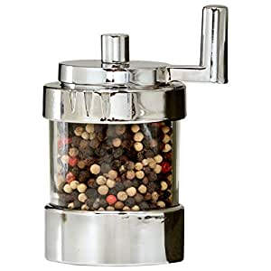 William Bounds Twist Mill - Pepper Mill - Polished Chrome and Acrylic
