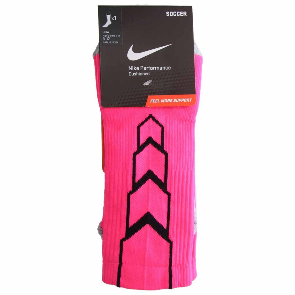 Nike Crew Matchfit - Calcetines de fútbol, hombre, color rosa/negro/gris, tamaño large: Amazon.es: Ropa y accesorios