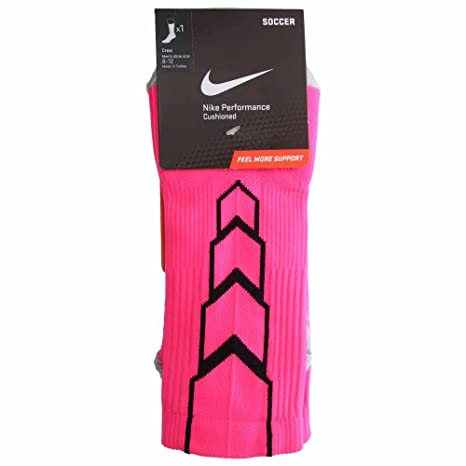 Nike Crew Matchfit - Calcetines de fútbol, hombre, color rosa/negro/gris