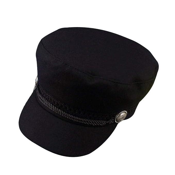Byqny Mujer Gorra Militar al Aire Libre Sombrero de Sol Sombrero del Pintor Sombrero de Calabaza para la Primavera el Otoño y el Invierno: Amazon.es: Ropa y ...