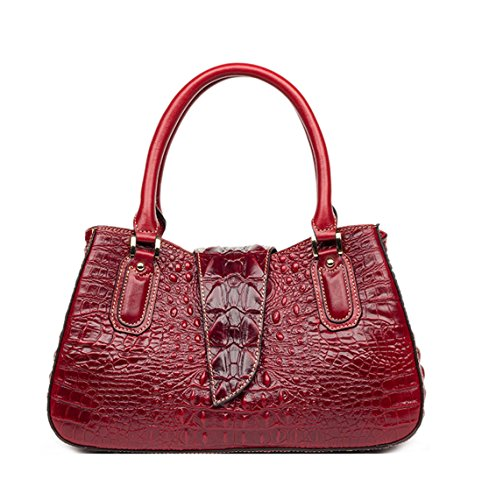 Porté Sac style Keshi à main et Rouge Nouveau MAIN Cuir femmes EPAULE t0qwxEpaw