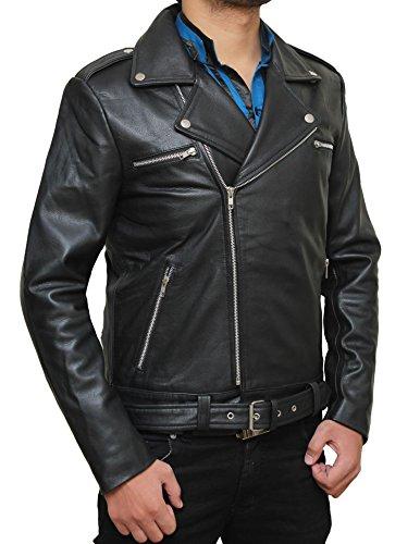 Negan Costume for Halloween 2017 - Cosplay Leather Jacket PU   Black, (Jacket Cosplay)
