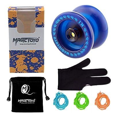 MAGICYOYO Responsive YoYo K1-Plus with Yoyo Sack + 3 Strings and Yo-Yo Glove Gift (Blue): Toys & Games