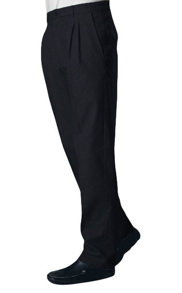 Bragard Funandoc Classic Sleek Styling Slanted Side Pockets Chef Pants Cotton - Black - | Sizes 30 US |