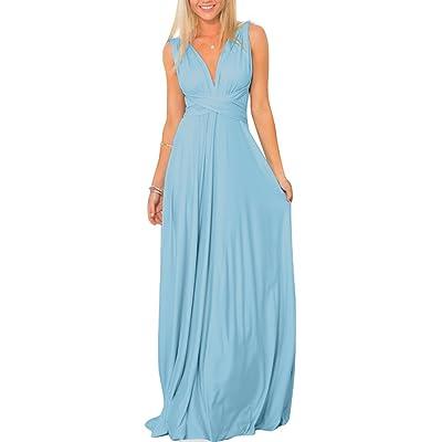 Women/'s Convertible Multi Way Wrap Bridesmaid Long Dresses Prom Evening Dress