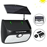 Solar Lights Outdoor, Bcway [48 LED Super Bright] [Detachable Solar Panel] 8.2ft ExtensionCord Waterproof Security Lighting Nightlight with Motion Sensor Detector for Patio Yard Garden Path