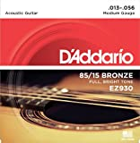 DAddario EZ930 85/15 Bronze Acoustic Guitar Strings, Medium, 13-56