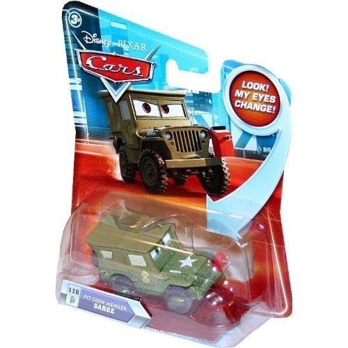 - Disney/Pixar Cars Lenticular Eyes Series 2 Die-Cast Pit Crew Sarge 1:55 Scale