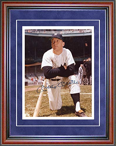 Mickey Mantle Autographed Framed 8x10 Photo ()