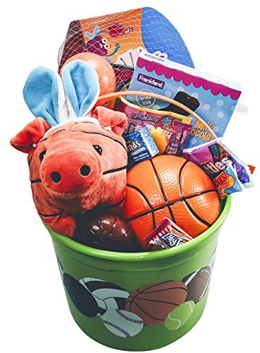 Basketball Easter Bucket Prefilled with Boys Sports Activity