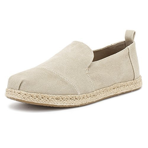 cc8a4c5b438 Galleon - TOMS Women s Deconstructed Alpargata Desert Taupe Washed Canvas 5  B US