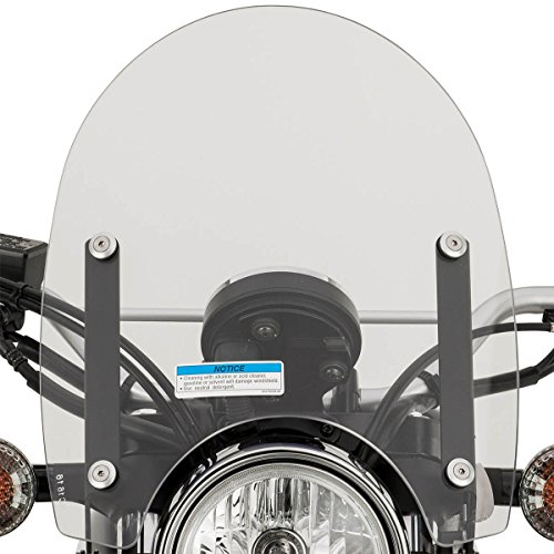 YAMAHA SCR950 ADVENTURE QUICK RELEASE WINDSHIELD AND MOUNTS KIT 2017 17 (Quick Windshields Wide Release)