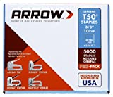 Arrow Fastener 506IP T-50 Staples, 3/8-In., 5000-Pk. - Quantity 20