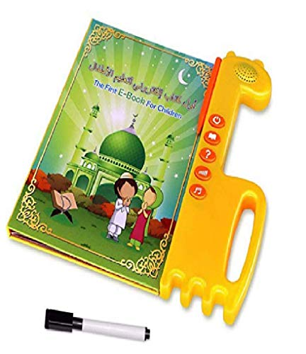 Salamsore Learning Quran Machine - Quran Learning Tablet, E-Book Drawing Pad Musical Toy Kids' Learning Arabic/ English,Educational Toy for Child Development,Learn Numbers! (Learn Quran Word By Word In English)
