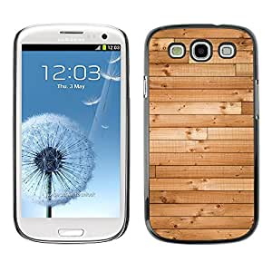 X-ray Impreso colorido protector duro espalda Funda piel de Shell para SAMSUNG Galaxy S3 III / i9300 / i747 - Wood Hard Floor Texture Ship Brown