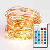 [NEW] Dimmable LED String Lights - ThorFire 10m 33ft 100LEDs Copper Wire Lights Flexible Fairy Lights With remote - Warm White Starry String Lights for Garden - Patio - Wedding - Party - Christmas Tree