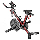 Stationary Spin Bike in Red/Grey