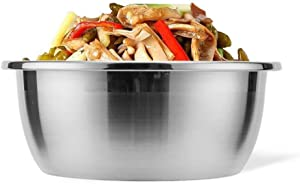 DOITOOL Stainless Steel Mixing Bowls Kitchen Food Storage Organizers for Serving Mixing Cooking Baking Home Kitchen Silver 22cm