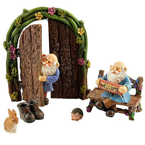 Fairy garden gnomes miniature gnome figurines for Garden accessories online