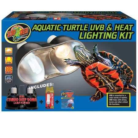 Zoo Med Aquatic Turtle UVB Heat Lighting Kit by Zoo Med