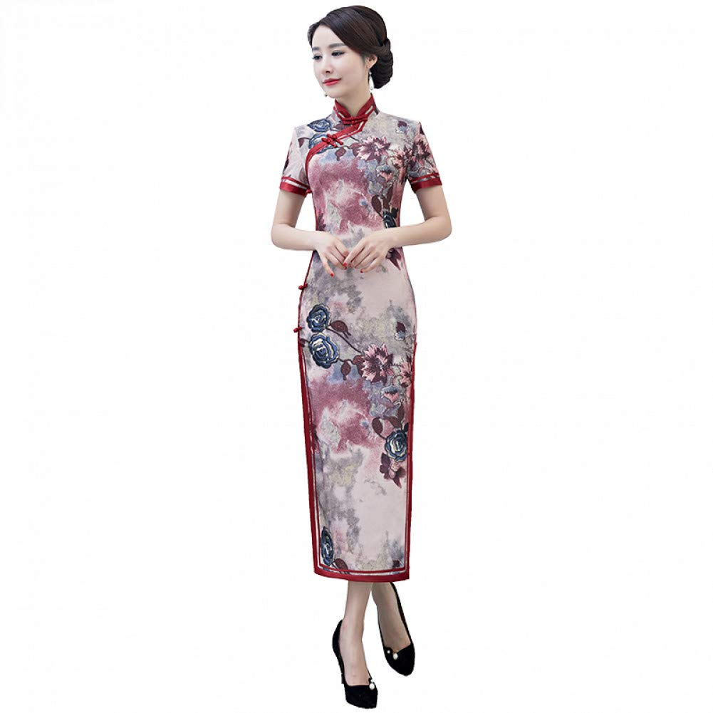 L BINGQZ Autumn new wide-brimmed classical temperament long retro slim slimming mother skirt show catwalk national wind