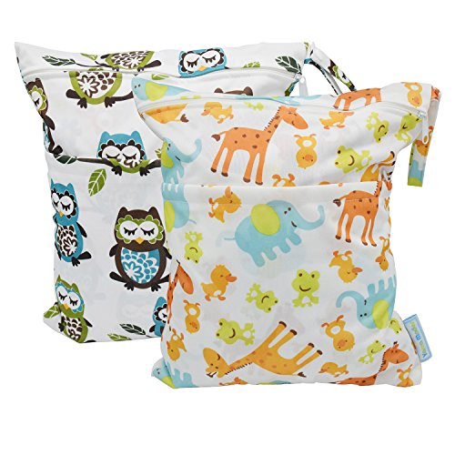 yarra-modes-2-pcs-baby-wet-and-dry-cloth-diaper-bags-giraffe-and-owls