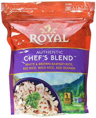 Medley Treasured - Royal Chef's Blend, White & Brown Basmati Rice, Red Rice, Wild Rice, and Red Quinoa, 2 Pound