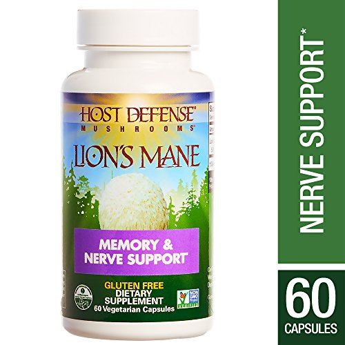 Host Defense - Lion's Mane Capsules, Mushroom Support for Memory & Nerves, 60 Count (FFP)