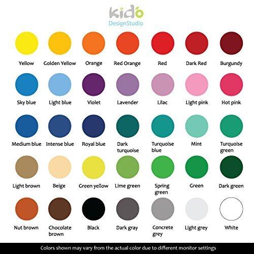 Personalized Kids Nursery Monogram Vinyl Wall Sticker Sport Name Wall Decal