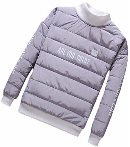 Dolcevita Mens Grigia Manica Cappotto Pullover uk Del Outwear Oggi Lunga Piumino SSqaw6