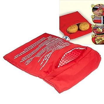 Bolsa roja para Cocina, Lavable, horneado, Patata, asado ...
