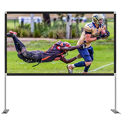 VIVOHOME 100 Inch 16:9 4K Portable Indoor Outdoor Projection Movie Screen with Stand and Carry Bag