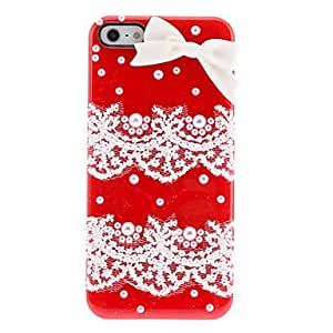 JOE Elegant Design Lace and Pearls Covered Hard Case with Nail Adhesive for iPhone 5/5S (Assorted Colors) , Yellow