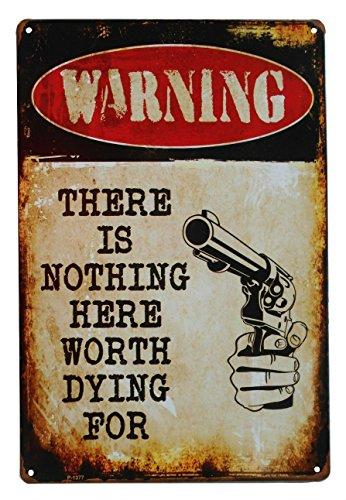 Warning No Trespassing Funny Tin Sign Bar Pub Garage Home Art Wall Decor Poster