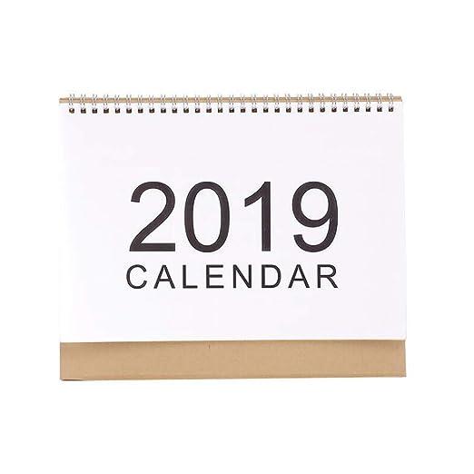 2019 Calendarios de Mesa Planificador semanal 2018 Plan mensual ...