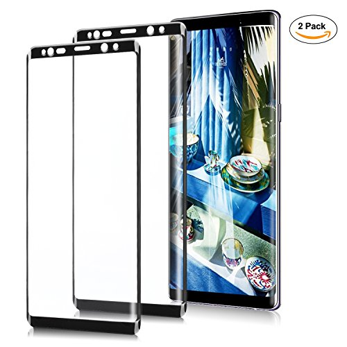 Galaxy Note 8 Screen Protector [2 Pack] Galaxy Note 8 Tempered Glass Toughened Membrane 9H Hardness 2.5D Curved Edge Anti-scratch Full Screen Protector for Samsung Note - Shipping 2 Day Gap Free
