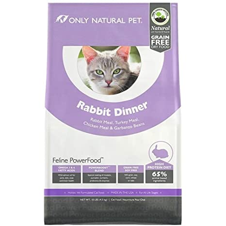 87e2eeae12 Amazon.com   Only Natural Pet Feline PowerFood Rabbit Dinner 10 lb Bag    Pet Supplies