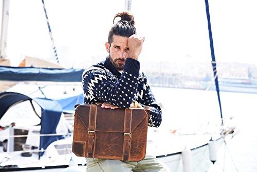 Aktentasche Mann Leder Laptoptasche Briefcase Schultertaschen Arbeitstasche Bag Business Tasche Man S8pUw4A
