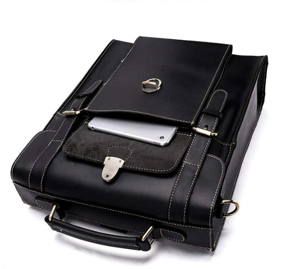 Sxuefang Mens Shoulder Bag Mens Messenger Bag Leather Man Bag Retro Multifunctional Shoulder Bag Mens Shoulder Bag 36x12x29cm