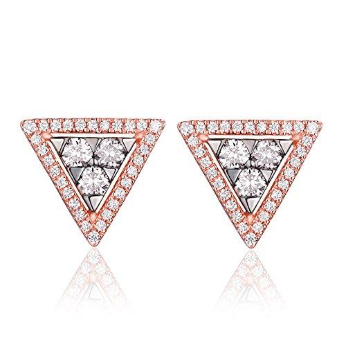 Diamond Triangle Earrings - 4