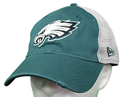 New Era Philadelphia Eagles Stated Back 9TWENTY Adjustable Trucker Hat/Cap by New Era