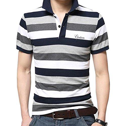 Veravant(ベラバント) ポロシャツ 半袖or長袖 メンズ  ボーダー カジュアル スポーツウェア ゴルフウェア シンプル 通気性 薄手 吸汗 夏 polo ファッション カッコイイ Tシャツ 全3色