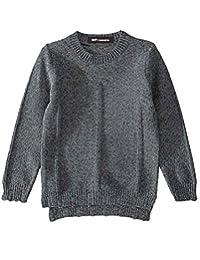 MFrannie Boys Solid Autumn Stripe Knit Long Sleeve Basic Sweater