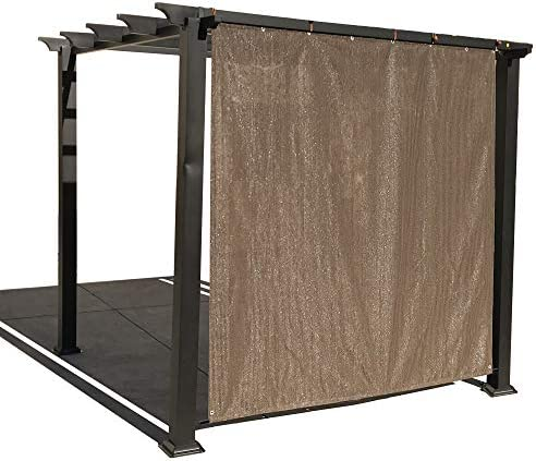 Alion Home Rod Pocket Sun Shade Panel with Aluminum Eyelets for Patio, Awning, Window Cover, Instant Canopy Side Wall, Pergola or RV 8 x 6 , Mocha Brown