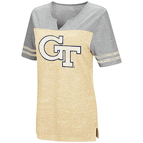 Womens Georgia Tech Yellow Jackets V-Neck Tee Shirt - L